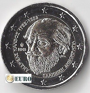 2 euro Griekenland 2019 - Andreas Kalvos UNC