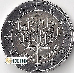 2 euro Estland 2020 - Verdrag van Tartu UNC
