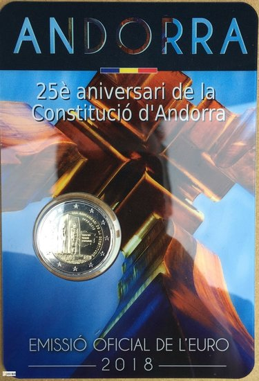 2 euro Andorra 2018 - 25 jaar Grondwet BU FDC
