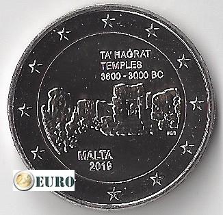 2 euro Malta 2019 - Ta' Hagrat Tempel UNC munstempel F