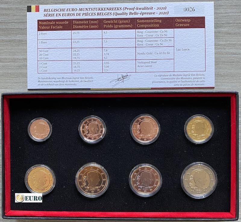 Euro set BE Proof Belgie 2020