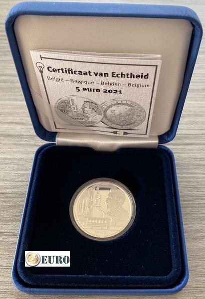 5 euro Belgie 2021 - Charles Van Depoele BE Proof zilver
