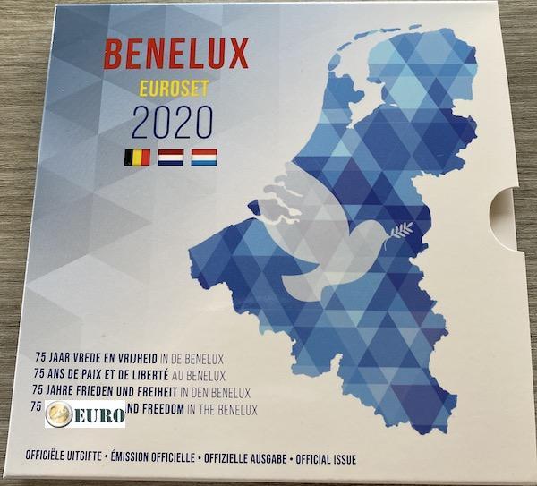 Euro set BU FDC Benelux 2020 Vrede Europa