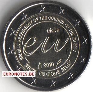 Belgie 2010 - 2 euro EU Voorzitterschap UNC
