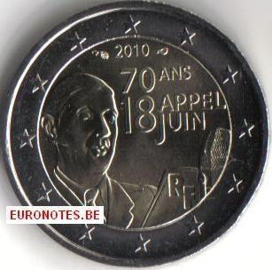 Frankrijk 2010 - 2 euro Appel 18 juni UNC