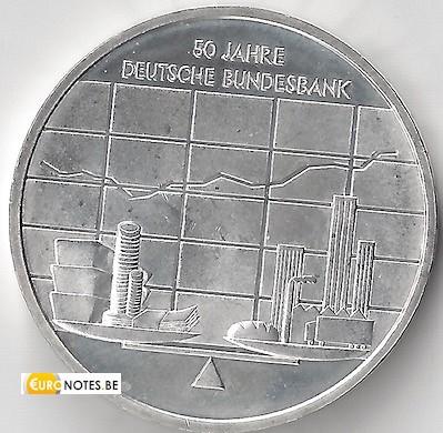 Duitsland 2007 - 10 euro J 50 jaar Bundesbank BU FDC