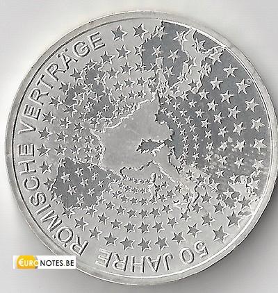 Duitsland 2007 - 10 euro F 50 jaar Verdrag van Rome VVR BU FDC
