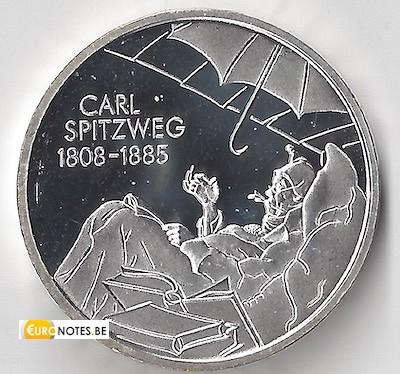 Duitsland 2008 - 10 euro D Carl Spitzweg BU FDC