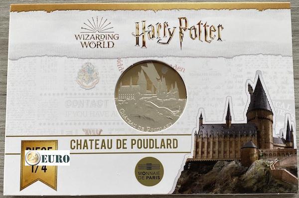 50 euro Frankrijk 2021 - Harry Potter Zweinstein BE Proof zilver gekleurd