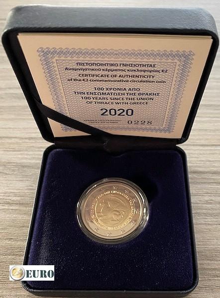 2 euro Griekenland 2020 - Eenwording met Thracie BE Proof