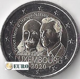 2 euro Luxemburg 2020 - Hendrik van Oranje-Nassau UNC