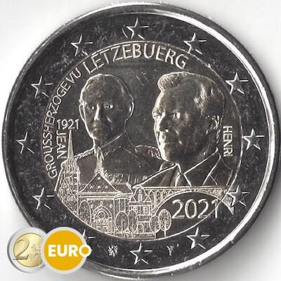 2 euro Luxemburg 2021 - 100 jaar geboorte Jean UNC