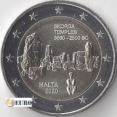 2 euro Malta 2020 - Tempel Skorba UNC