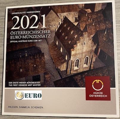 Euro set BU FDC Oostenrijk 2021 - Schlom