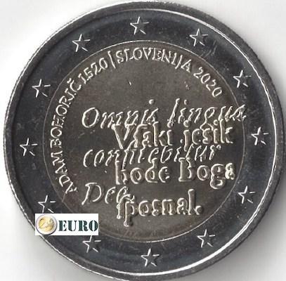 2 euro Slovenie 2020 - Adam Bohoric UNC