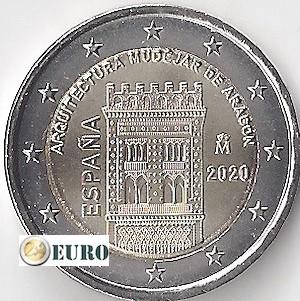 2 euro Spanje 2020 - Mudéjar Aragón UNC