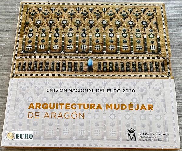 Euro set BU FDC Spanje 2020 + 2 euro Aragon