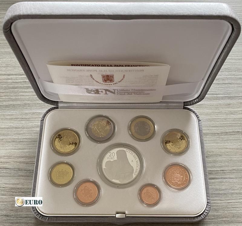 Euro set BE Proof Vaticaan 2020 + 20 euro zilver