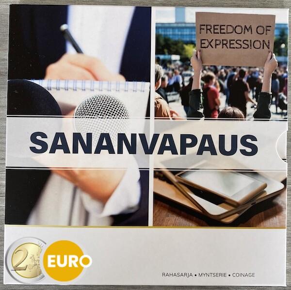 Euro set BU FDC Finland 2021 Vrijheid meningsuiting