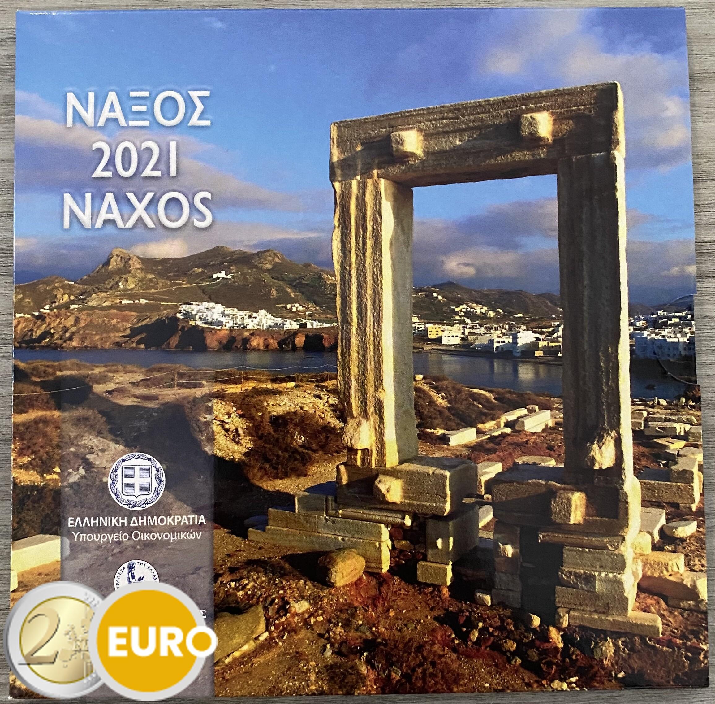Euro set BU FDC Griekenland 2021 Naxos