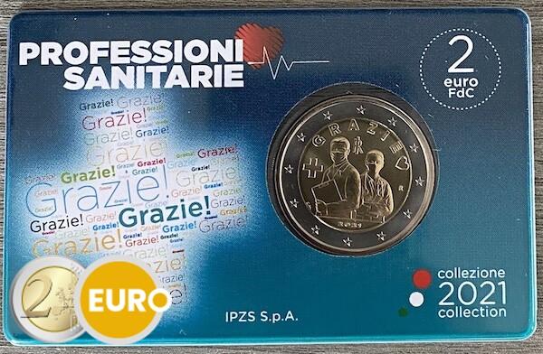 2 euro Italie 2021 - Grazie gezondheidszorg BU FDC Coincard