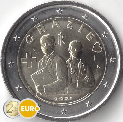 2 euro Italie 2021 - Grazie gezondheidszorg UNC