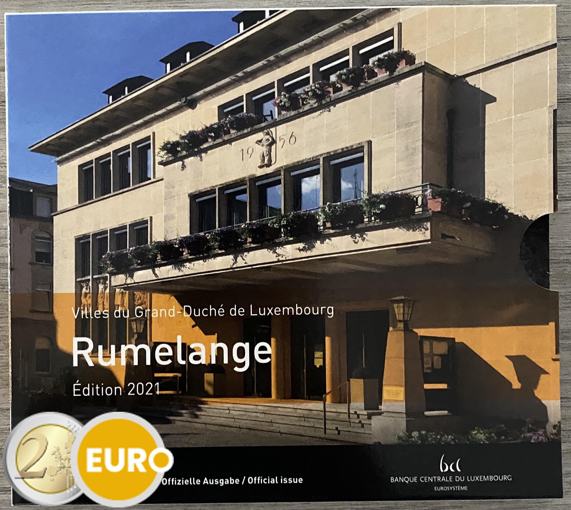 Euro set BU FDC Luxemburg 2021 Rumelange + 2 euro Geboorte Jean foto