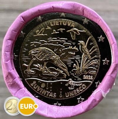 Rol 2 euro Litouwen 2021 - Biosfeerreservaat Zuvintas