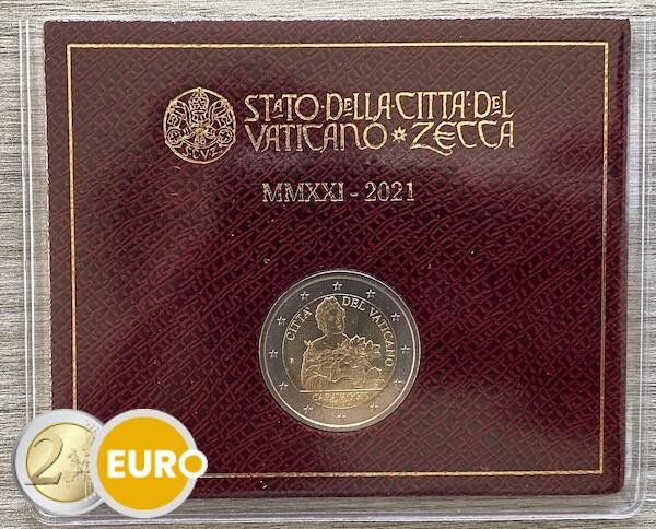 2 euro Vaticaan 2021 - Caravaggio BU FDC