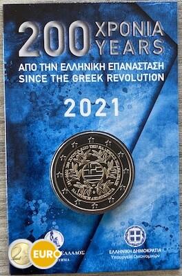 2 euro Griekenland 2021 - Griekse revolutie BU FDC Coincard