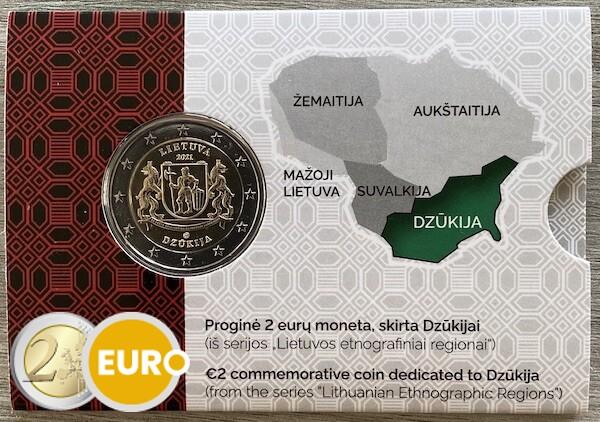 2 euro Litouwen 2021 - Dzukija Regio BU FDC Coincard