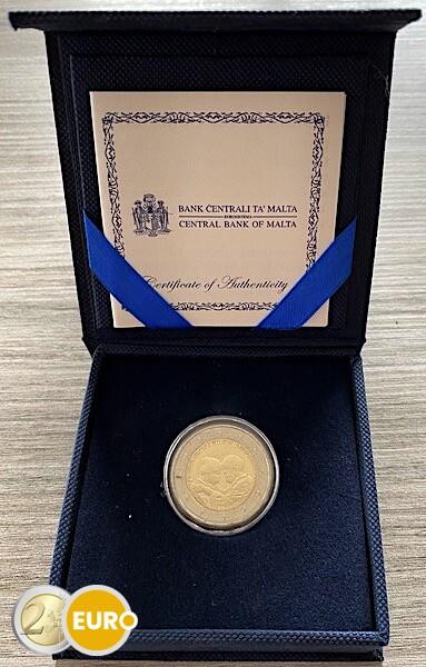 2 euro Malta 2021 - Helden van de pandemie UNC doosje muntstempel MdP certificaat