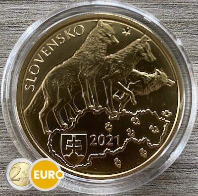 5 euro Slowakije 2021 - Wolf UNC