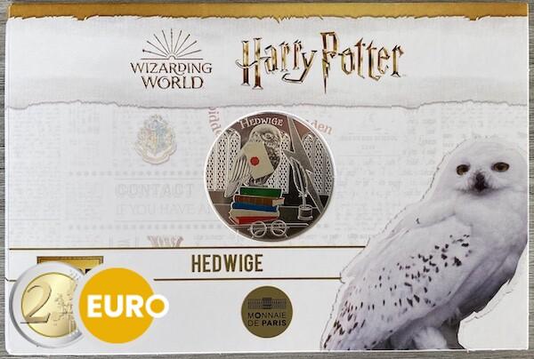 50 euro Frankrijk 2021 - Harry Potter Hedwig BE Proof zilver gekleurd