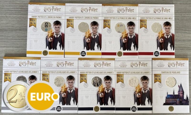 9 x 10 euro Frankrijk 2021 - Harry Potter UNC in blister - deel 2