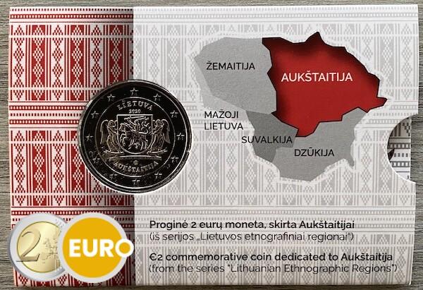 2 euro Litouwen 2020 - Aukstaitija Regio BU FDC Coincard