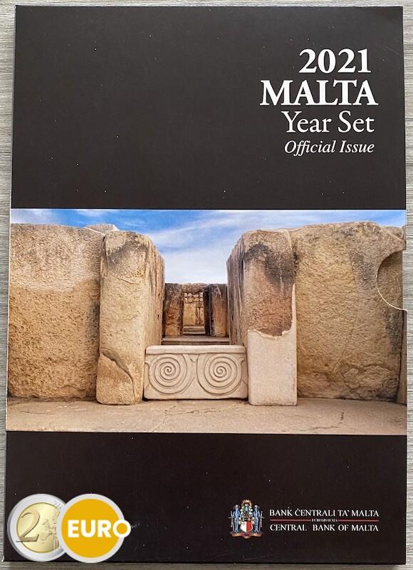 Euro set BU FDC Malta 2021 + 2 euro Tarxien Tempel