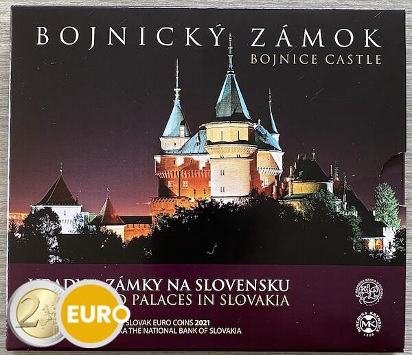 Euro set BU FDC Slowakije 2021 - Kasteel Bojnice